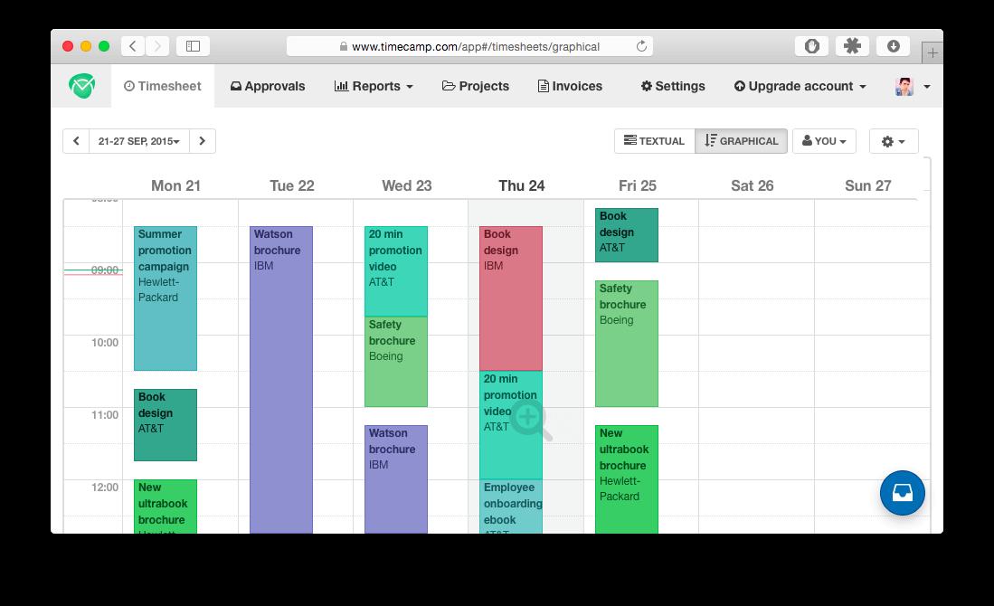 calendar timesheet